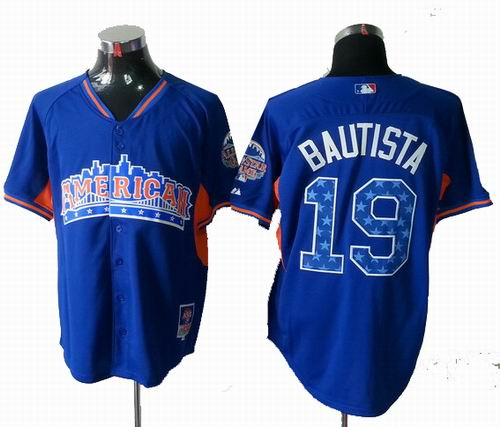 Toronto Blue Jays 19 Jose Bautista American League 2013 All Star blue Jersey