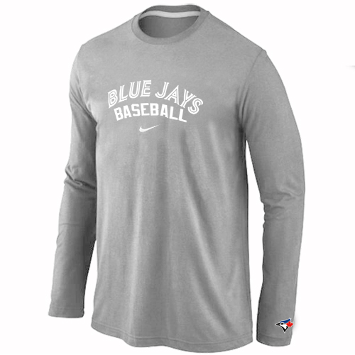 Toronto Blue Jays Long Sleeve T-Shirt Grey