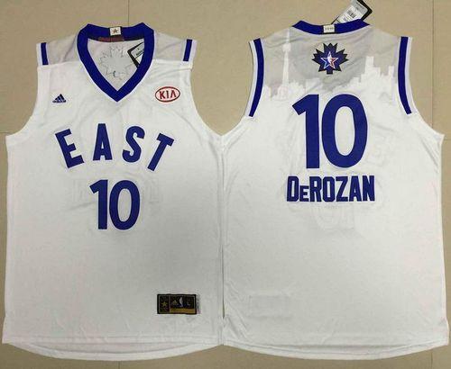Toronto Raptors 10 DeMar DeRozan White 2016 All Star NBA Jersey