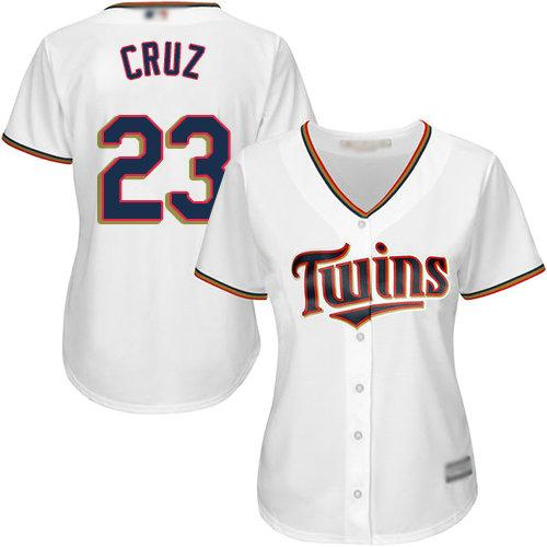 Twins #23 Nelson Cruz White Home Women's Stitched