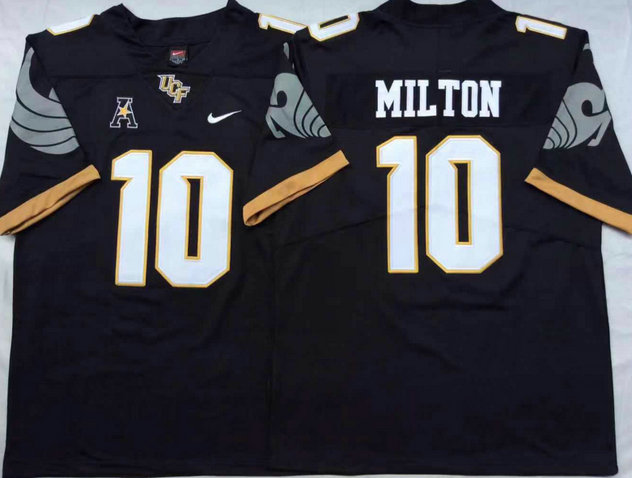 UCF Knights 10 Mckenzie Milton Black College Football Jersey
