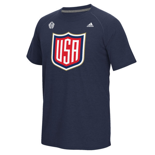 US Hockey 2016 World Cup of Hockey Primary Logo Ultimate climalite T-Shirt - Navy
