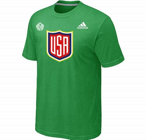 US Hockey Apple Green 2016 World Cup of Hockey Primary Logo T-Shirt