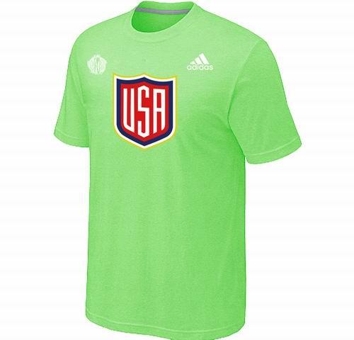 US Hockey light apple green 2016 World Cup of Hockey Primary Logo T-Shirt