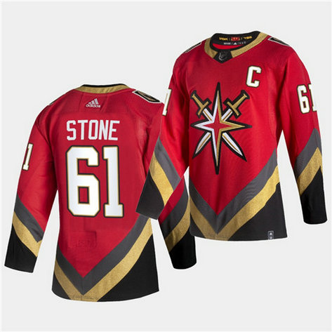 Vegas Golden Knights #61 Mark Stone 2021 Reverse Retro Red Jersey