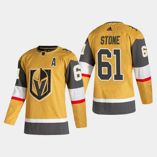 Vegas Golden Knights #61 Mark Stone Men's Adidas 2020-21 Authentic Player Alternate Stitched NHL Jersey Gold