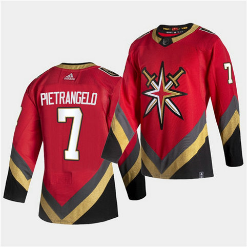 Vegas Golden Knights #7 Alex Pietrangelo 2021 Reverse Retro Red Jersey
