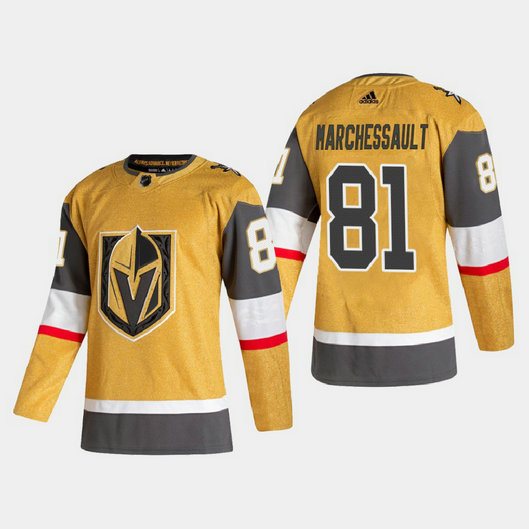 Vegas Golden Knights #81 Jonathan Marchessault Men's Adidas 2020-21 Authentic Player Alternate Stitched NHL Jersey Gold