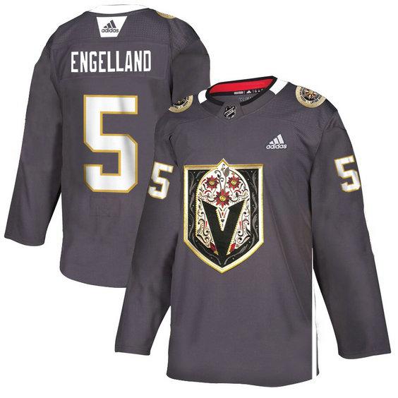 Vegas Golden Knights 5 Deryk Engelland Gray Dia De Los Muertos Adidas Jersey