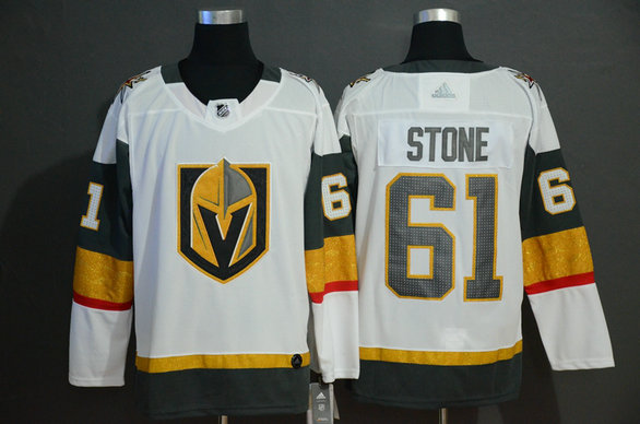 Vegas Golden Knights 61 Mark Stone White With Special Glittery Logo Adidas Jersey