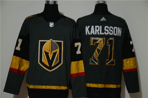 Vegas Golden Knights 71 William Karlsson Gray Adidas Fashion Jersey