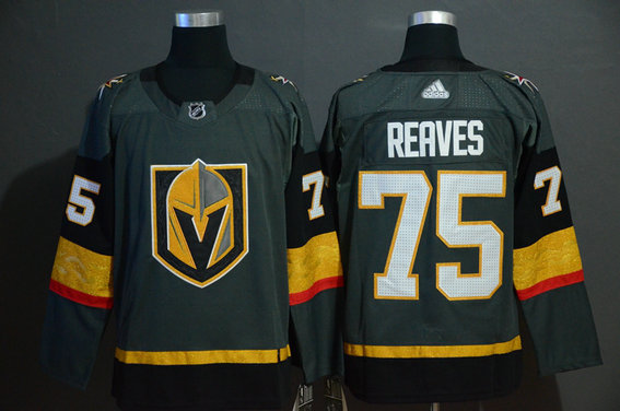Vegas Golden Knights 75 Ryan Reaves Gray With Special Glittery Logo Adidas Jersey