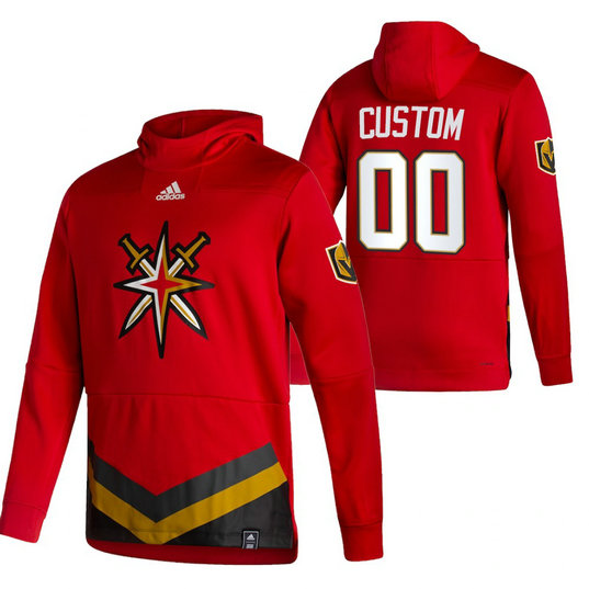 Vegas Golden Knights Custom Adidas Reverse Retro Pullover Hoodie Red