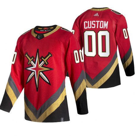 Vegas Golden Knights Custom Red Men's Adidas 2020-21 Alternate Authentic Player NHL Jersey