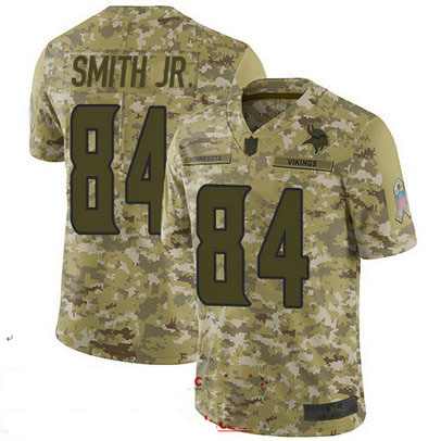Vikings #84 Irv Smith Jr. Camo Youth Stitched Football Limited 2018 Salute to Service Jersey