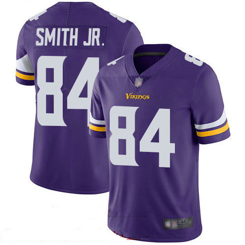 Vikings #84 Irv Smith Jr. Purple Team Color Youth Stitched Football Vapor Untouchable Limited Jersey