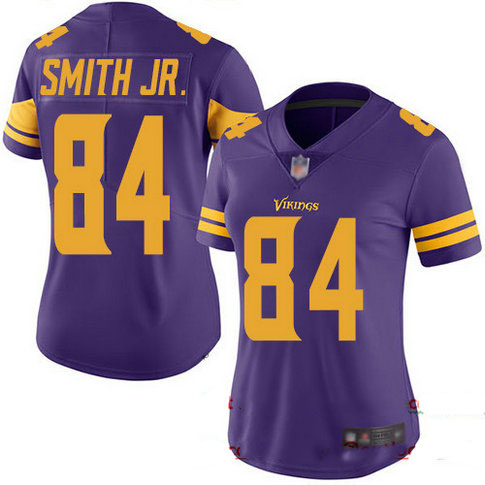 Vikings #84 Irv Smith Jr. Purple Women's Stitched Football Limited Rush Jersey
