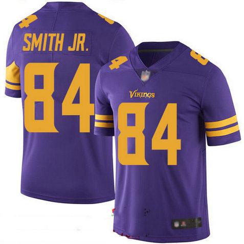 Vikings #84 Irv Smith Jr. Purple Youth Stitched Football Limited Rush Jersey