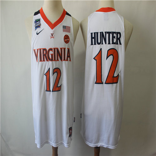 Virginia Cavaliers 12 DeAndre Hunter White College Basketball Jersey