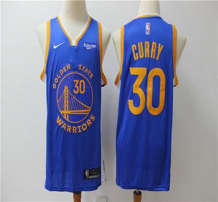 Warriors 30 Stephen Curry Blue Nike Swingman Jersey