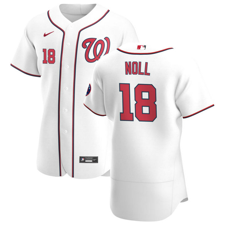 Washington Nationals #18 Jake Noll Men's Nike White Home 2020 Authentic Player MLB Jersey