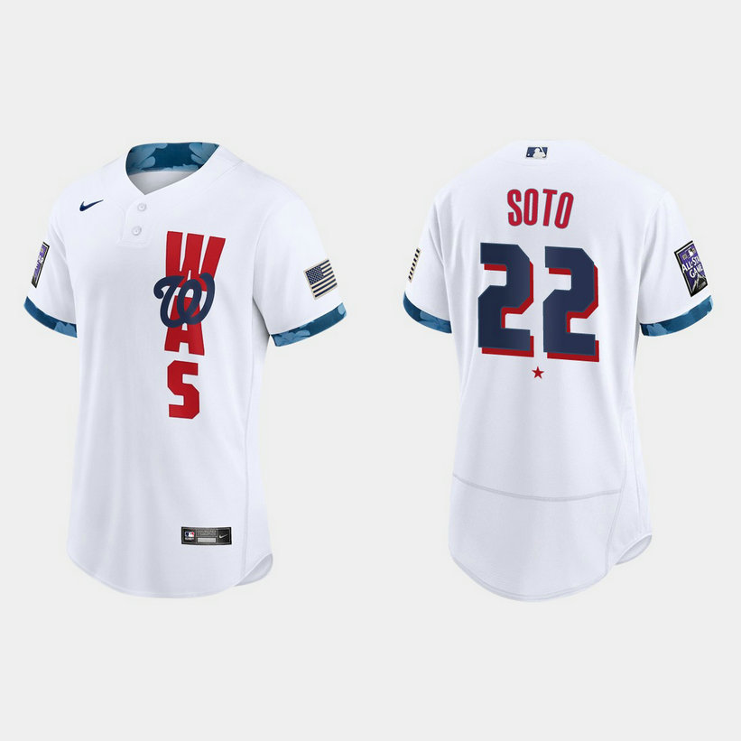 Washington Nationals #22 Juan Soto 2021 Mlb All Star Game Authentic White Jersey