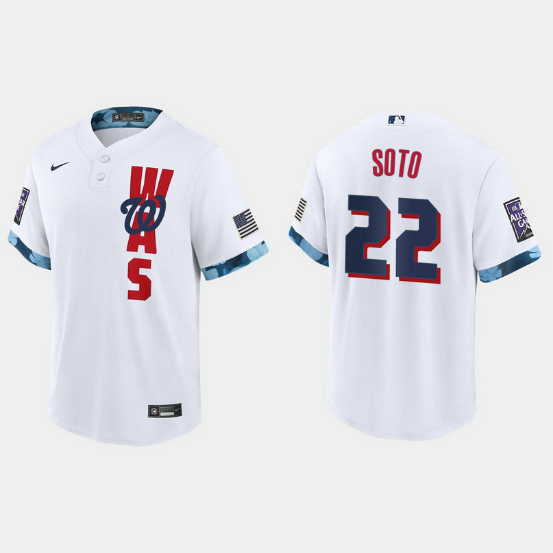 Washington Nationals #22 Juan Soto 2021 Mlb All Star Game Fan's Version White Jersey