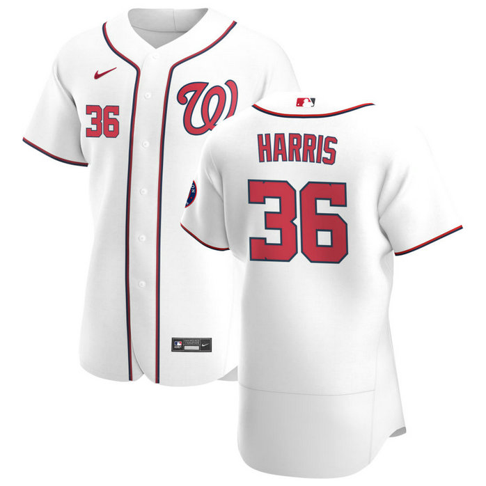 Washington Nationals #36 Will Harris Men's Nike White Home 2020 Authentic Player MLB Jersey