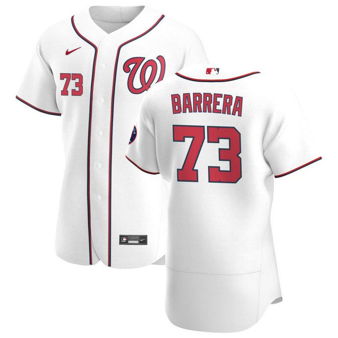 Washington Nationals #73 Tres Barrera Men's Nike White Home 2020 Authentic Player MLB Jersey