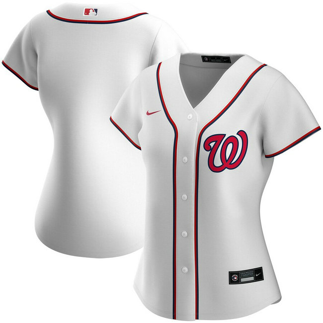 Washington Nationals Nike Women's Home 2020 MLB Team Jersey White