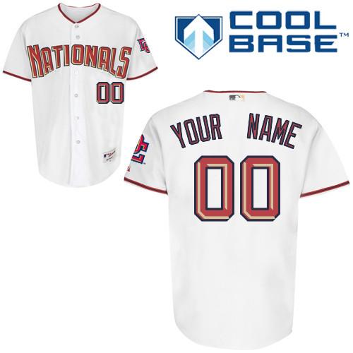 Washington Nationals Personalized Custom White MLB Jersey