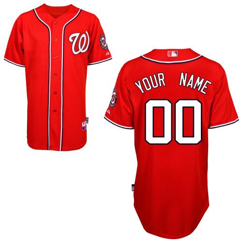 Washington Nationals Personalized Custom red MLB Jersey