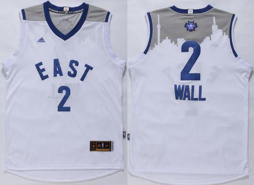 Washington Wizards 2 John Wall White 2016 All Star NBA Jersey