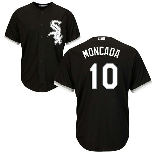 White Sox #10 Yoan Moncada Black Cool Base Stitched Youth MLB Jersey