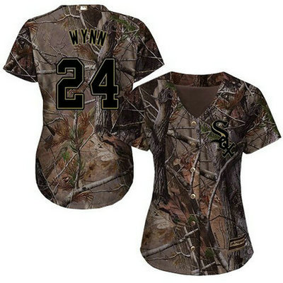 White Sox #24 Early Wynn Camo Realtree Collection Cool Base Women's Stitched Baseball Jersey