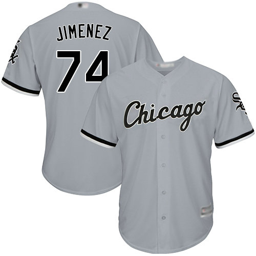 White Sox #74 Eloy Jimenez Grey Road Cool Base Stitched Youth Baseball Jersey