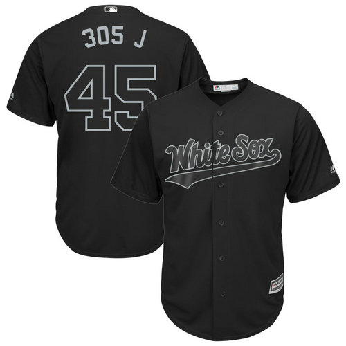 White Sox 45 Michael Jordan 305 J Black 2019 Players' Weekend Player Jersey