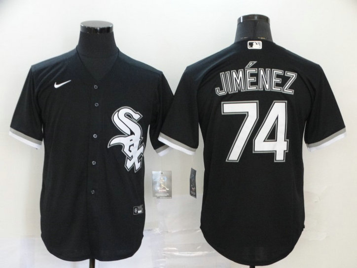 White Sox 74 Eloy Jimenez Black 2020 Nike Cool Base Jersey