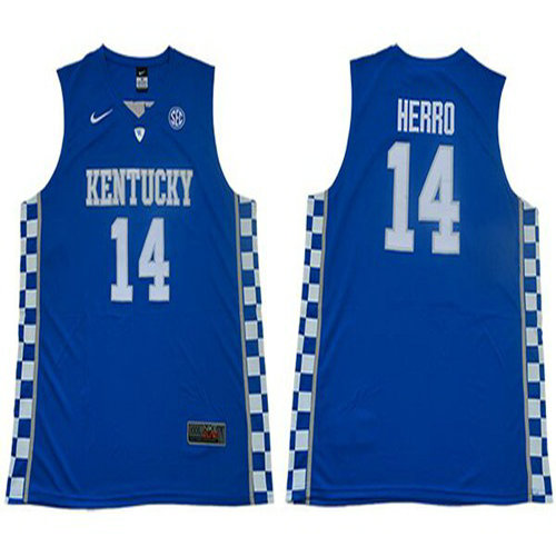 Wildcats #14 Tyler Herro Royal Blue Basketball Elite Stitched College Jersey