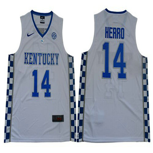 Wildcats #14 Tyler Herro White Basketball Elite Stitched College Jersey