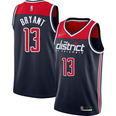 Wizards #13 Thomas Bryant Navy Blue Basketball Swingman Statement Edition 2019 2020 Jersey