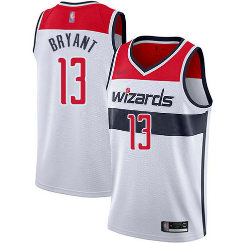 Wizards #13 Thomas Bryant White Basketball Swingman Association Edition Jersey