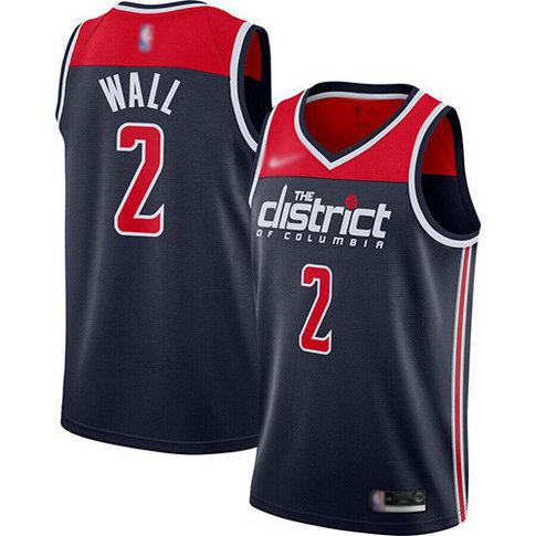 Wizards #2 John Wall Navy Blue Basketball Swingman Statement Edition 2019 2020 Jersey