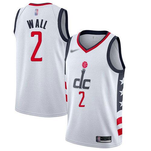 Wizards #2 John Wall White Basketball Swingman City Edition 2019 20 Jersey