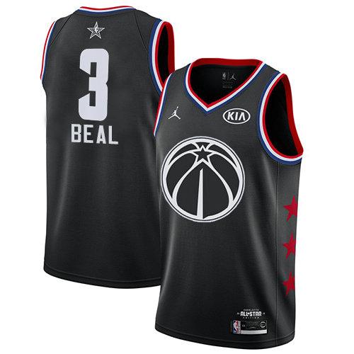 Wizards #3 Bradley Beal Black Basketball Jordan Swingman 2019 All-Star Game Jersey