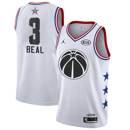 Wizards #3 Bradley Beal White Basketball Jordan Swingman 2019 All-Star Game Jersey