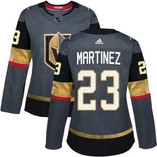 Women's Adidas Vegas Golden Knights #23 Alec Martinez Gray Home Jersey