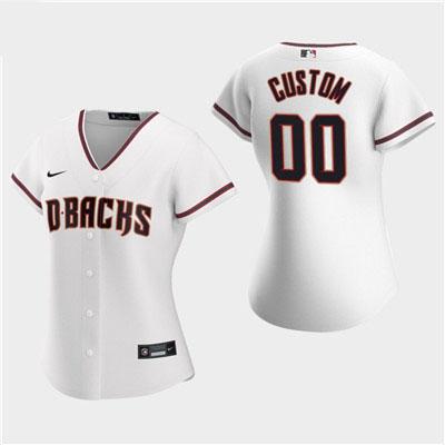 Women's Custom Arizona Diamondbacks 2020 White Home Replica Jersey