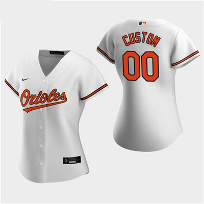 Women's Custom Baltimore Orioles 2020 White Home Replica Jersey