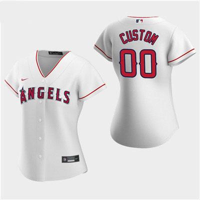 Women's Custom Los Angeles Angels 2020 White Home Replica Jersey